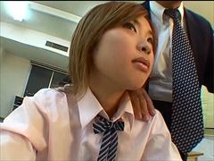 変態教師にセクハラされる女子校生