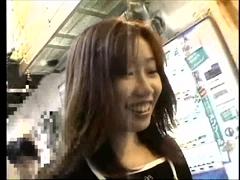 大竹萌:ヤラレ顔が色っぽい素人娘とトイレで露出ハメ撮り【H:G:M:O】画像(1)